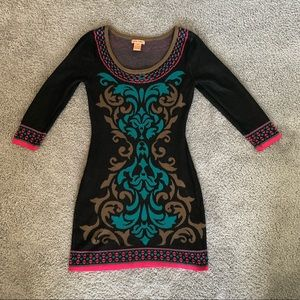 Flying Tomato Patterned Sweater Dress